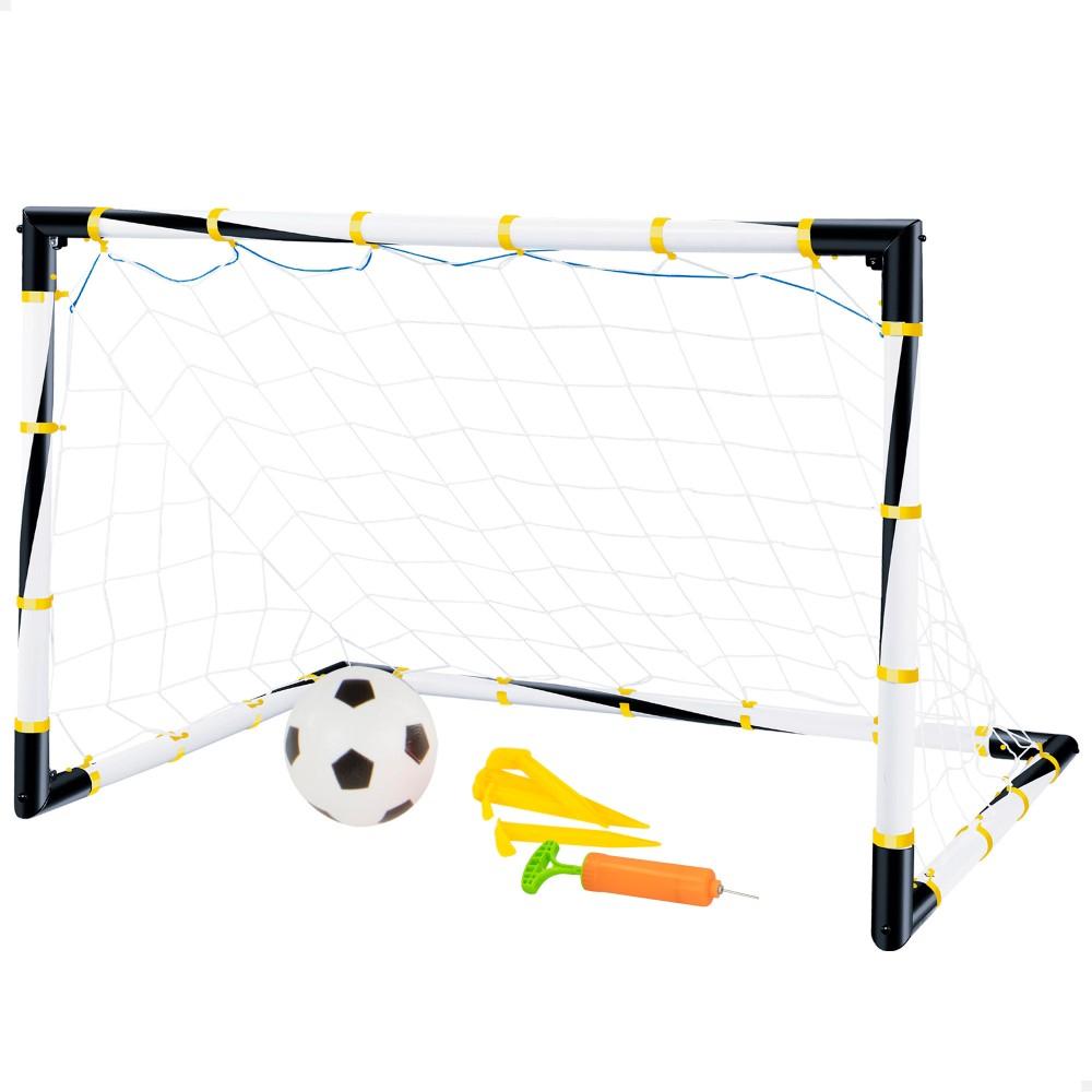 Gol de futebol dobrável com bola e insuflador | Distria