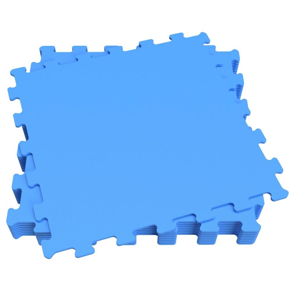 Piso protetor EVA azul- Cobertura| Distria