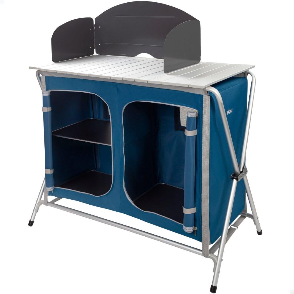 Mueble plegable camping con paravientos Aktive |Distria.com
