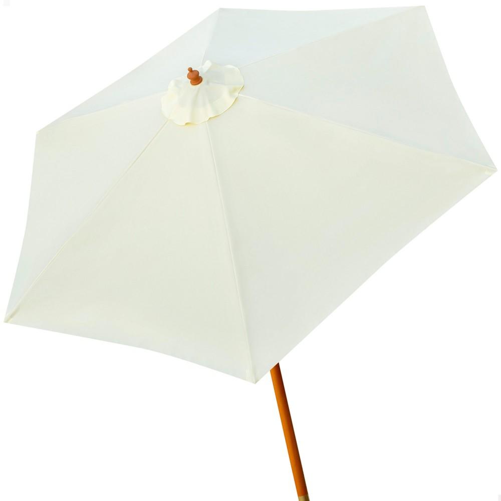 Parasol con mástil de madera | Decoración exterior | Distria