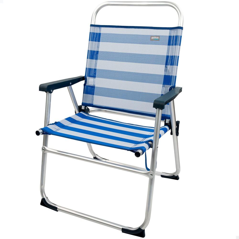 Silla de playa  plegable a rayas-silla playa   Distria