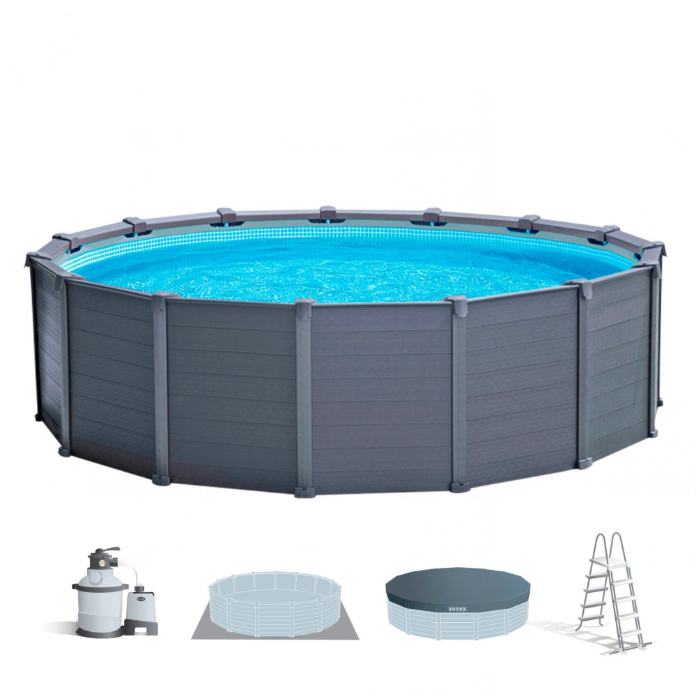 Piscinas desmontables de acero INTEX - Distria.com