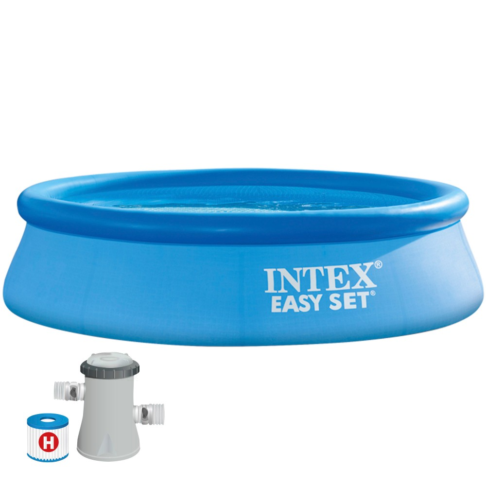 Comprar piscina hinchable Intex Easy Set con depuradora \ Distria
