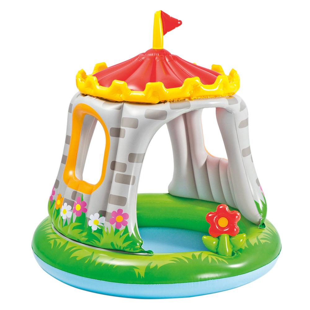 Piscina infantil hinchable Intex en forma de castillo y con parasol   Piscinas baratas para niños en Distria