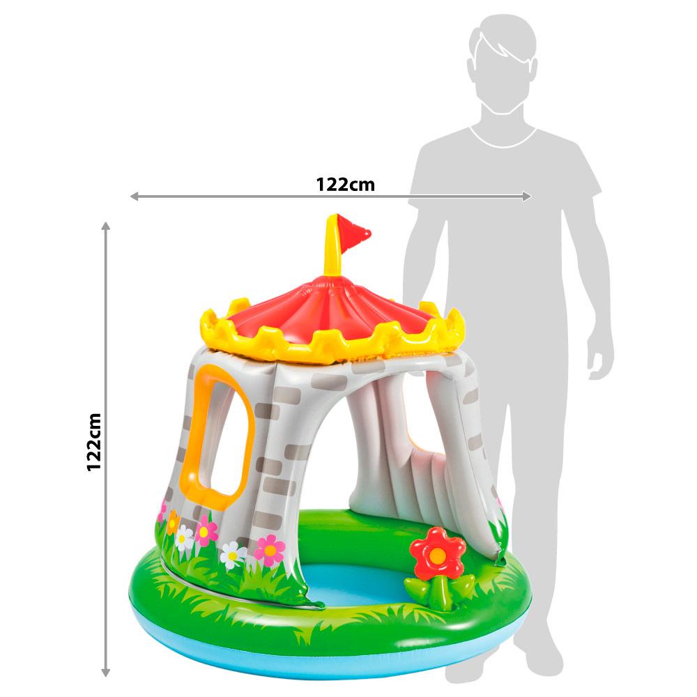 Piscina infantil insufl vel intex com forma de castelo e for Piscinas infantiles baratas