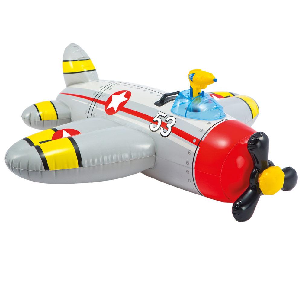 Colchoneta hinchable con forma de avión con pistola de agua | Intex