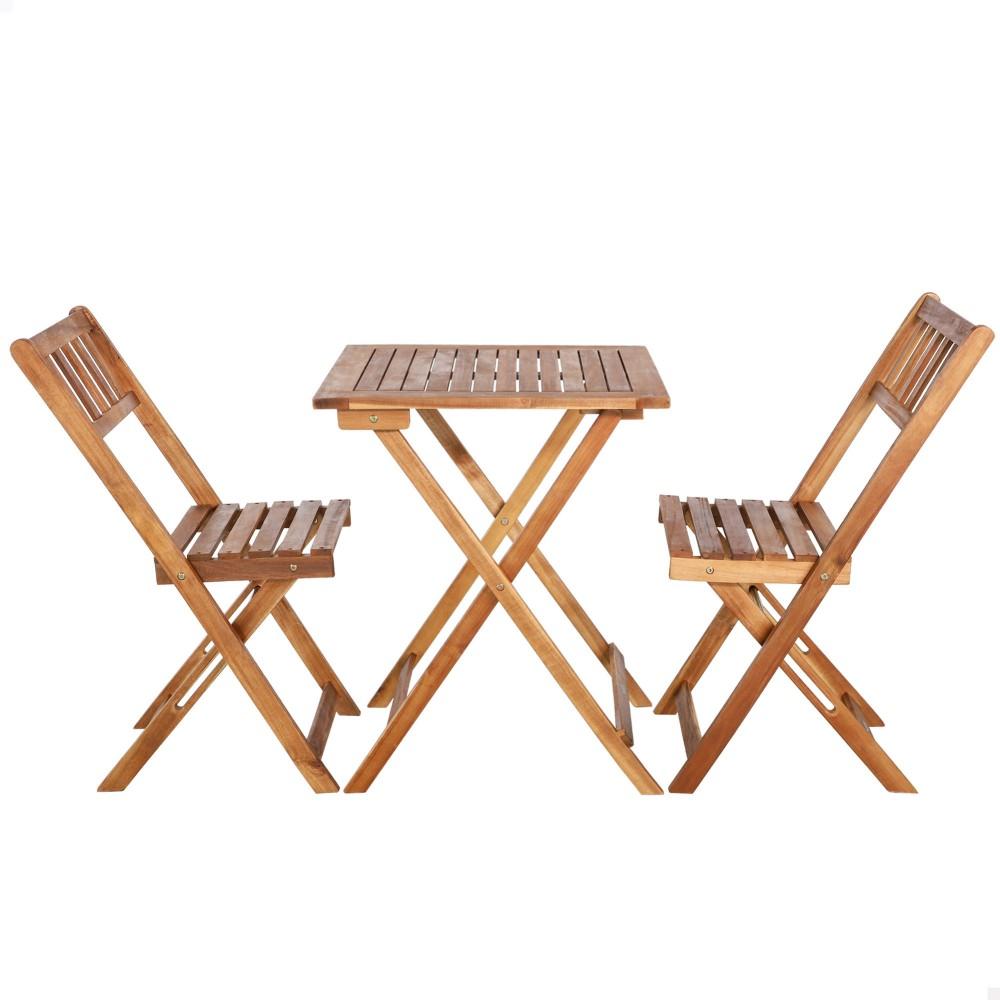Cadeiras e mesa de madeira para jardim | Distria