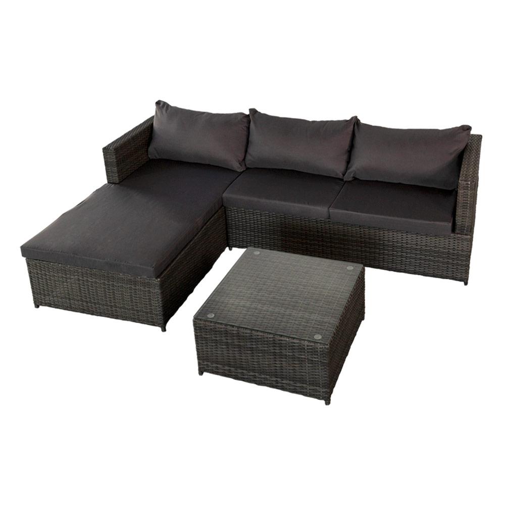Sofá rinconera chaise long jardín - Mobiliario jardín | Distria