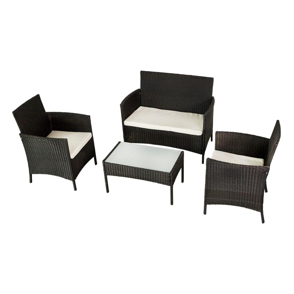 Comprar sofá, sillón y mesa - Conjunto mobiliario jardín en Distria