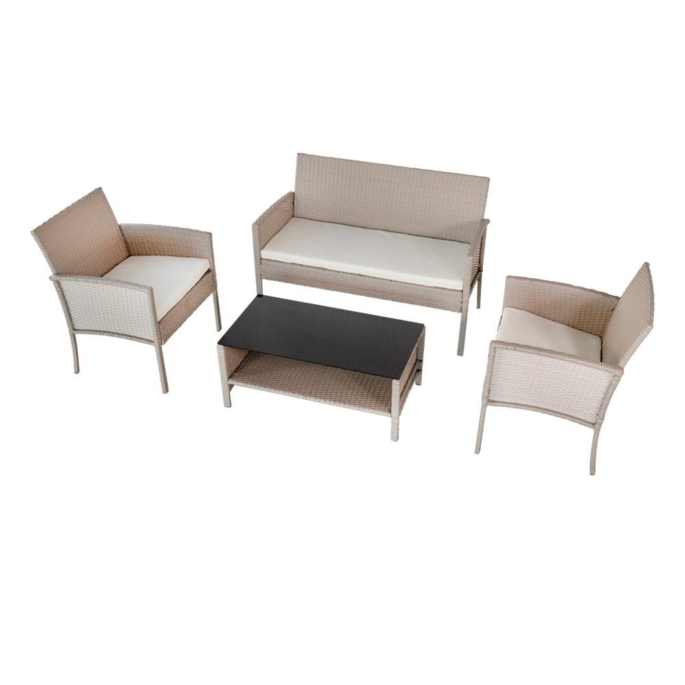 Mesa, sillones y sofá | Conjunto jardín Aktive Garden | Distria