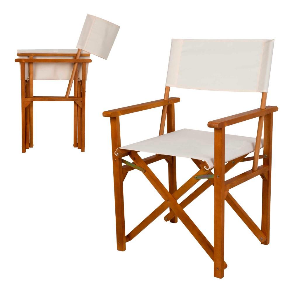 Cadeira de diretor dobrável de madeira| Distria