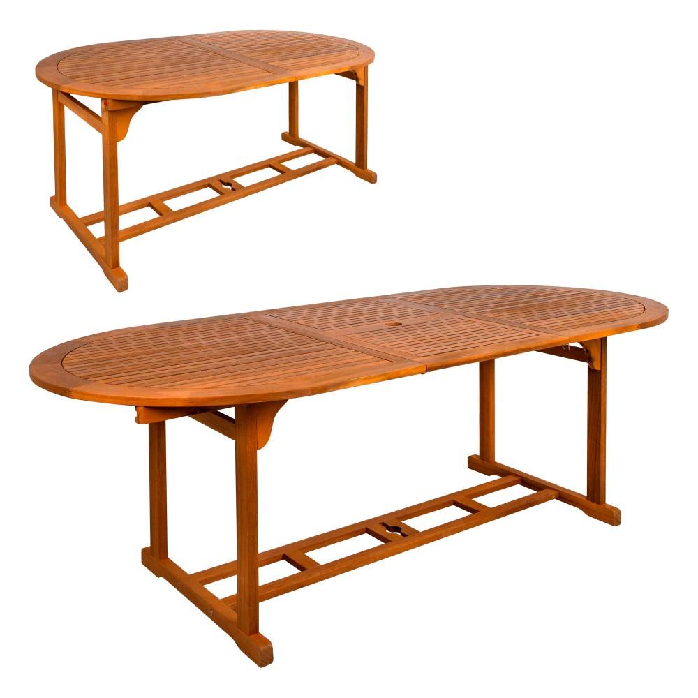 Mesa extensível de madeira de acácia para jardim Aktive | Distria.com