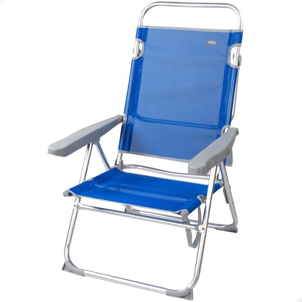 Cadeira com encosto multi-posições-Cadeira de Praia   Distria
