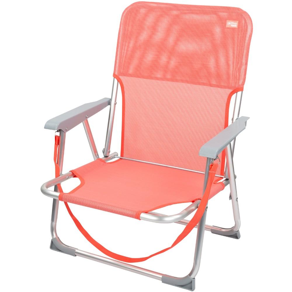 Cadeira baixa com encosto fixo -Cadeira de Praia| Distria