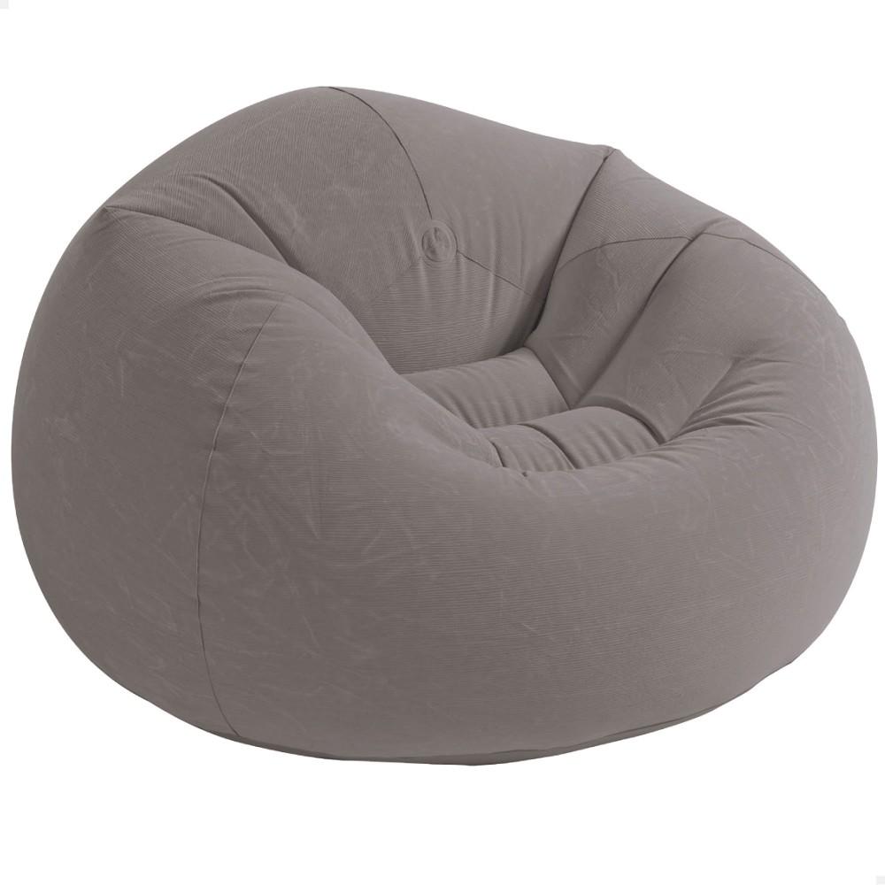 Sillón hinchable Intex Beanless de color gris | Mobiliario hinchable a buen precio en Distria