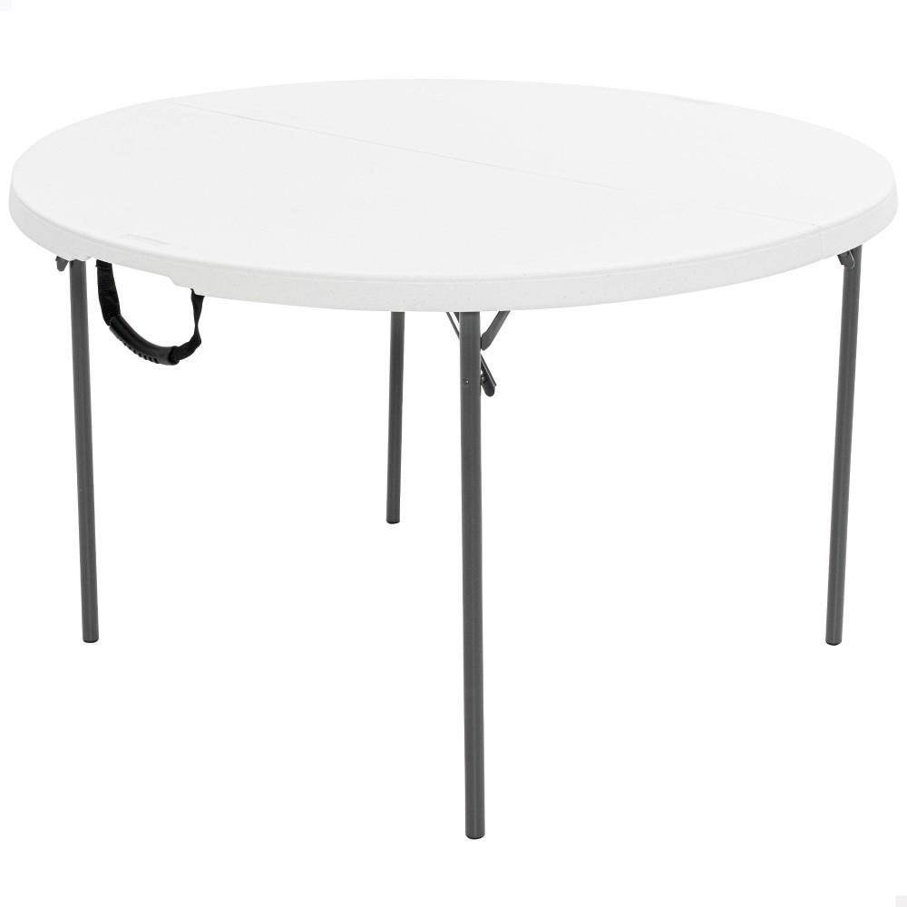 Mesa plegable redonda LIFETIME - Distria.com