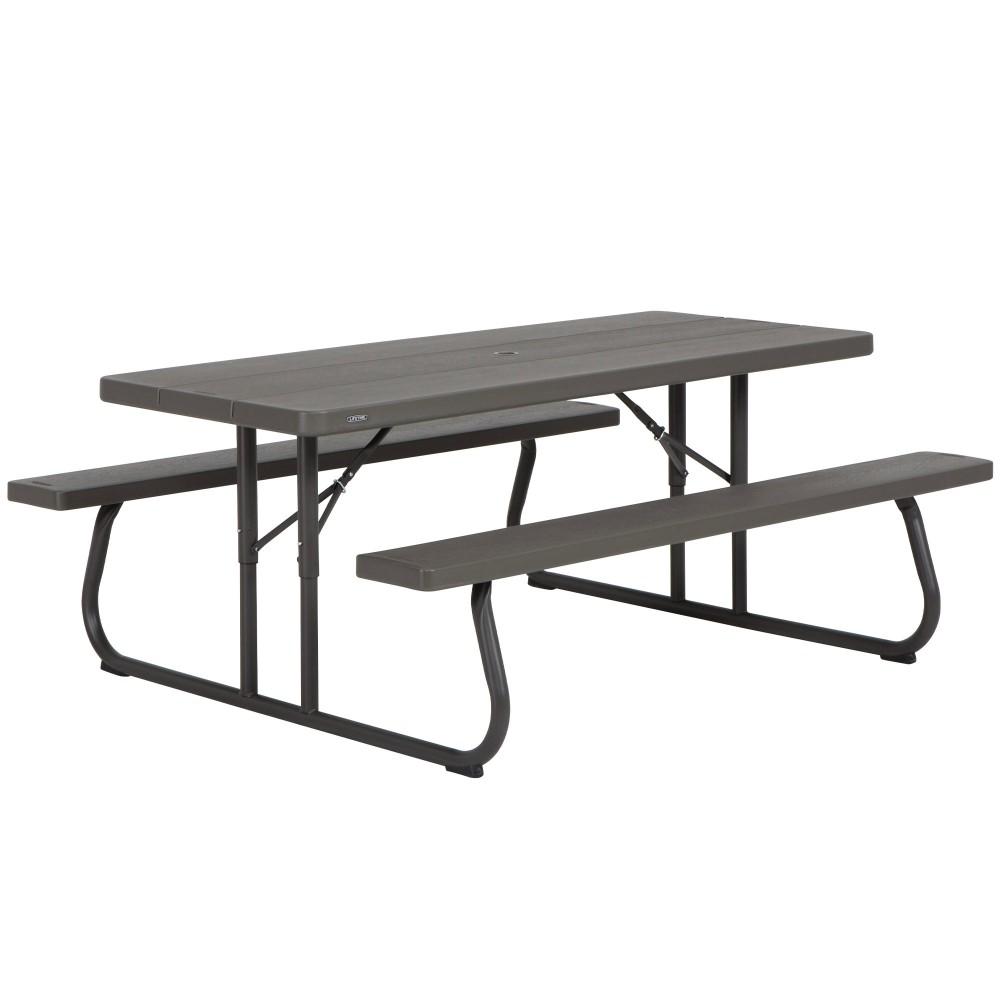 Mesa de picnic dobrável 8 pessoas LIFETIME | Distria.com