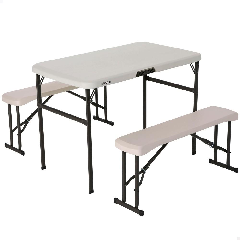 Mesa plegable con bancos LIFETIME - Distria.com