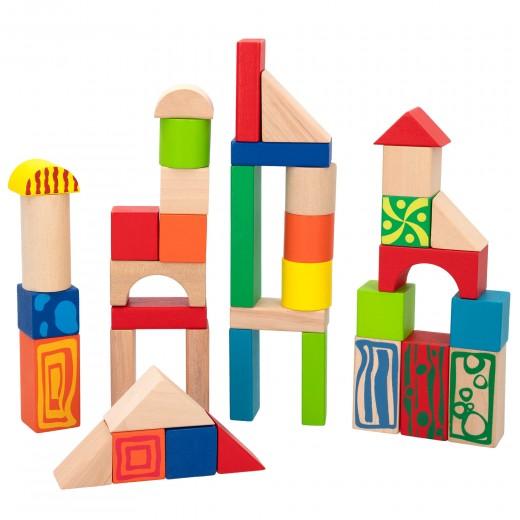 Cubo 50 bloques de madera WOOMAX