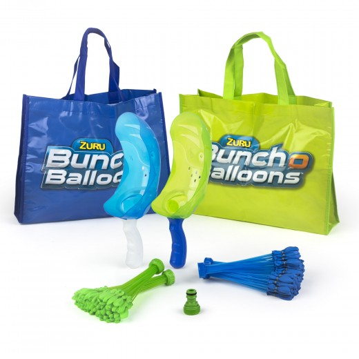 BUNCH O BALLOONS Set globos 2 lanzadores, 1 boquilla y 4 manojos x 35 globos