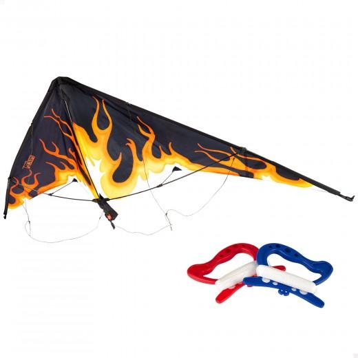 Cometa acrobática pop up flame - 163x67 cm CB Toys