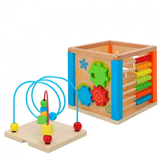 Cubo actividades bebé madera 5 en 1 WOOMAX