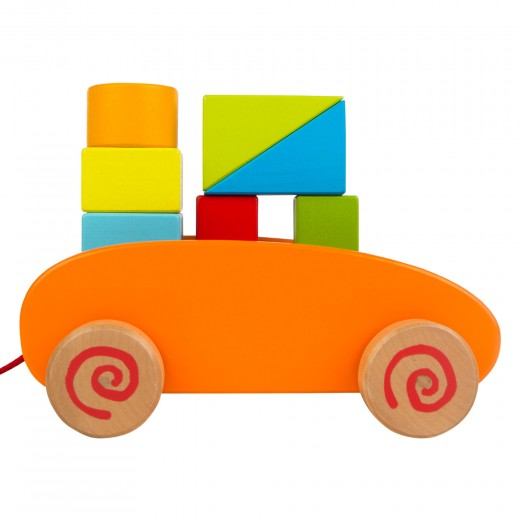 Carrito bloques de madera Play & Learn
