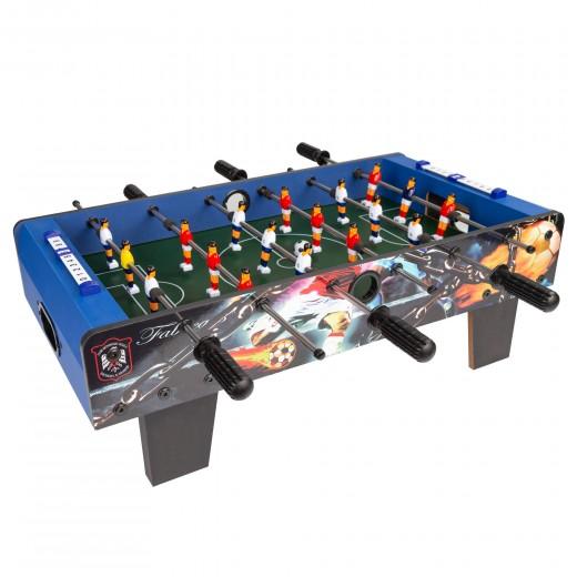Futbolín madera azul tamaño mesa CBGames