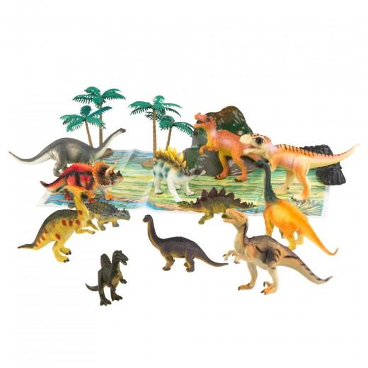 Bote con dinosaurios Animal World - 17 piezas