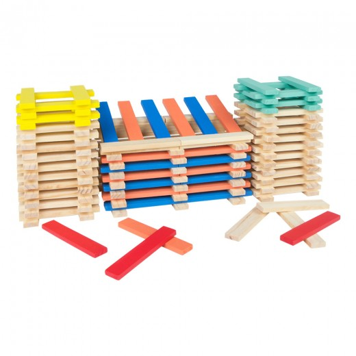 Cubo 200 bloques apilables de madera Play & Learn