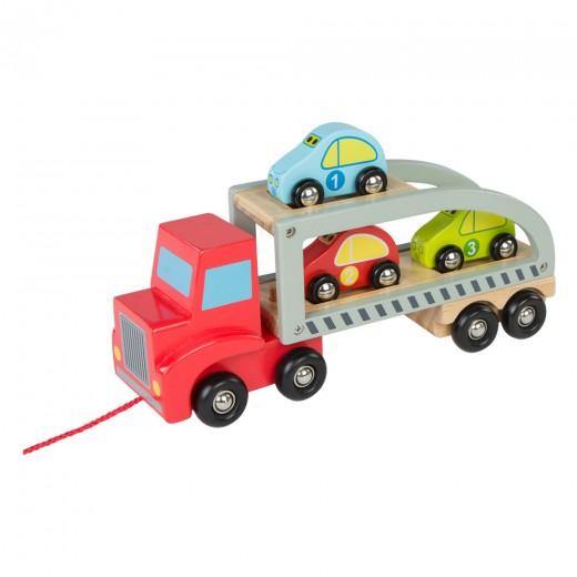Camión madera con 3 coches WOOMAX