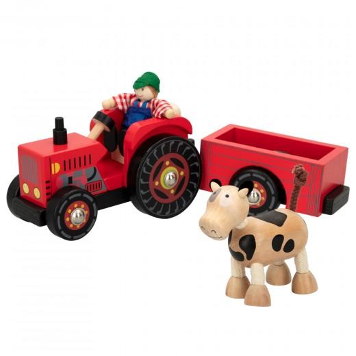 Tractor de madera con remolque WOOMAX