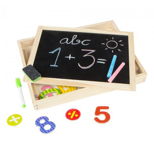 Pizarra 2 en 1 de madera Play & Learn