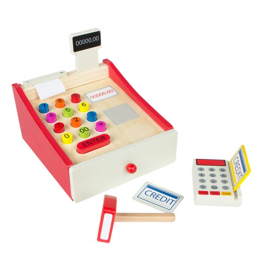 Caja registradora de madera con accesorios Play & Learn