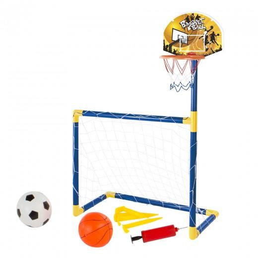 Set 2 en 1 Baloncesto y Fútbol CBtoys