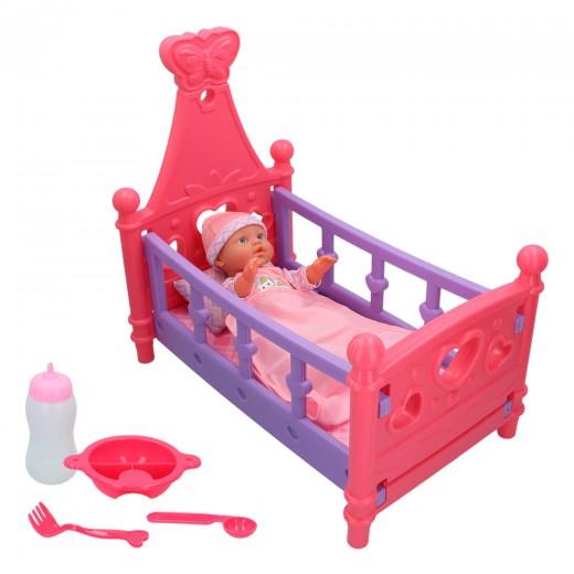 Set bebé con cuna y accesorios Colorbaby's