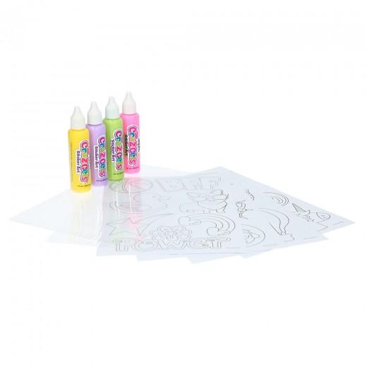 Manualidades niños pinturas 3D gel 4 botes Cra-Z-Gels