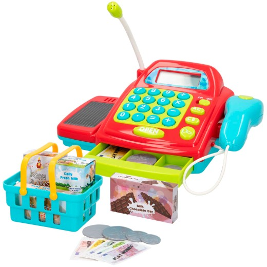 Caja registradora eléctrica con accesorios PlayGo