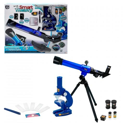 Set telescopio y Microscopio Kidz Corner