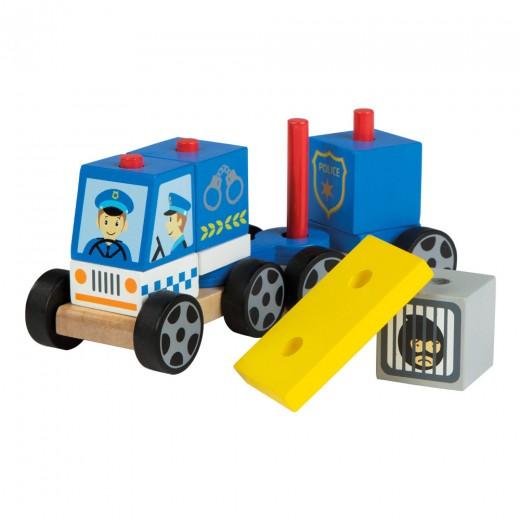 Coche policía modular de madera Play&Learn