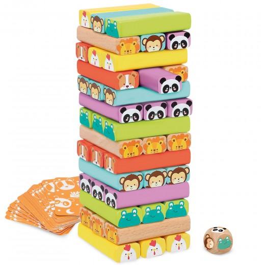 Construcciones para niños torre de madera 52 piezas WOOMAX