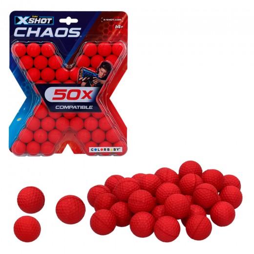 Pack 50 pelotas munición X-Shot Chaos