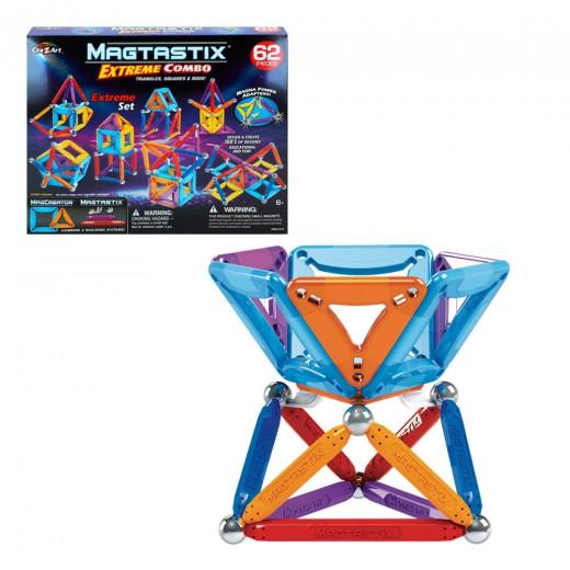 Juego magnético Magtastix Extreme Combo 62 pz Cra-Z-Art