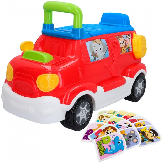 Correpasillos camión con luces y sonidos Safari Winfun