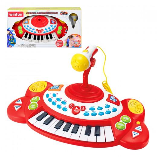Piano electrónico con microfóno Winfun