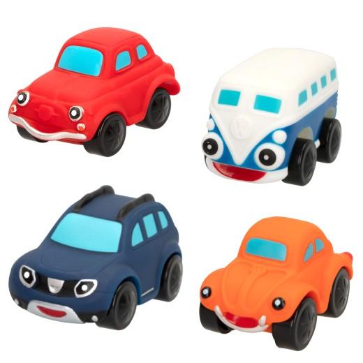 Pack 4 vehículos de goma motor town