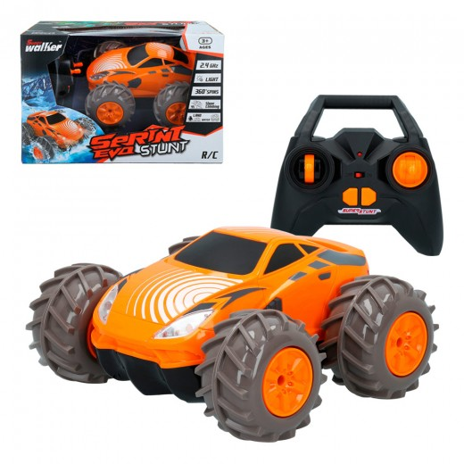 Coche rc volteretas anfibio Sprint Evo stunt naranja CB Toys