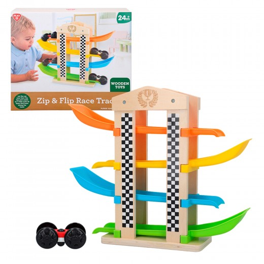Pista coches de madera PlayGo