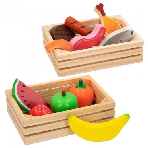 Cajas con alimentos de madera WOOMAX