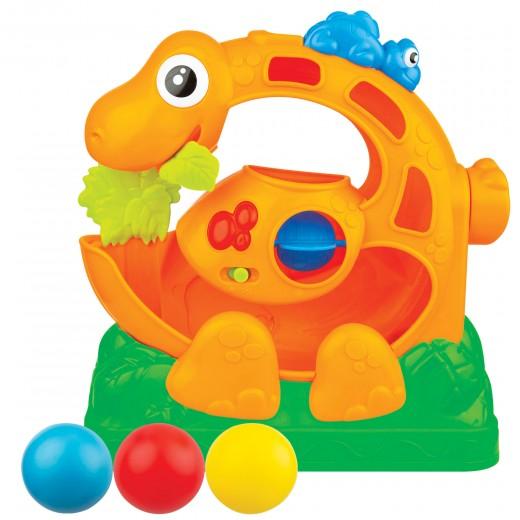 Juego bolas saltarinas con luz y sonidos Dinosaurio Winfun